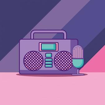 Icono estéreo de boombox
