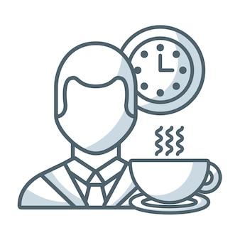 Icono de éxito de personas de negocios