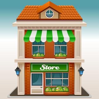 Icono de la fachada de una tienda o cafetería.