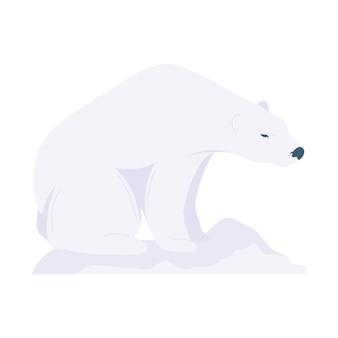 Icono de fauna silvestre animal oso polar