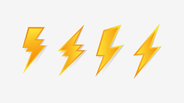 Icono de flash thunder bolt
