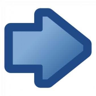 Icono de la flecha azul de la derecha
