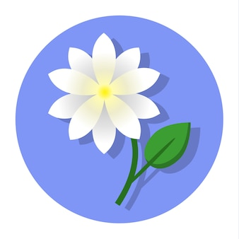 Icono de flor de jazmín