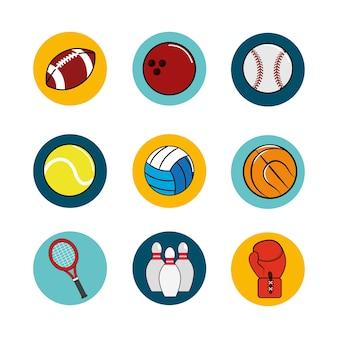 Icono de fondo del juego de deporte