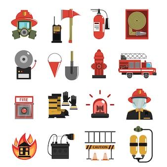 Icono de fuego plano