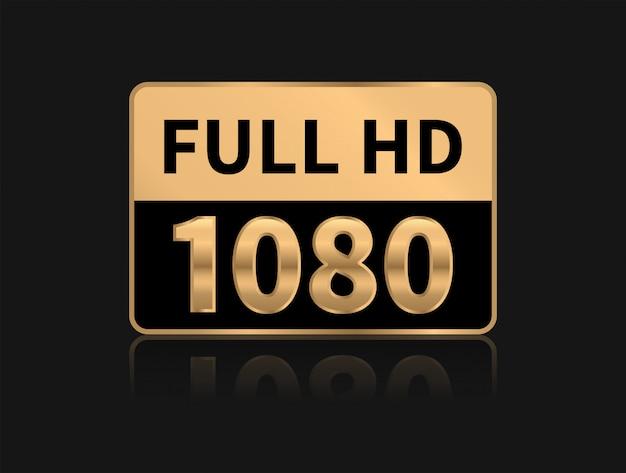 Ícono full hd. resolución de 1080p.