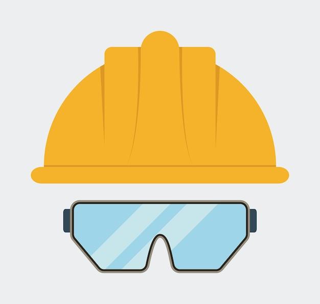 Icono de gafas casco amarillo