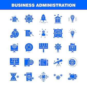 Icono de glifo de administración de empresas