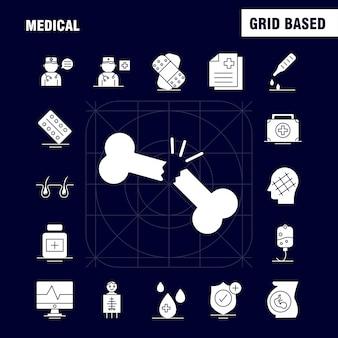 Icono de glifo médico