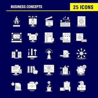 Icono de glifo sólido de conceptos de negocio
