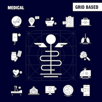 Icono de glifo sólido médico
