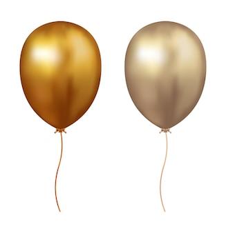 Icono de globo de aire dorado