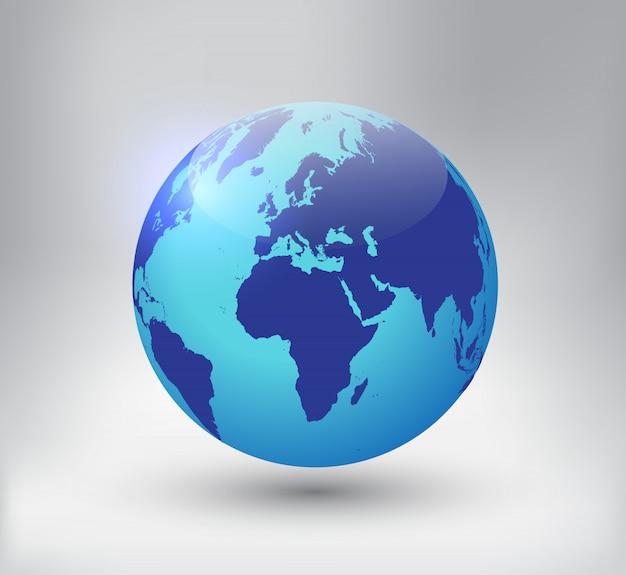 Icono de globo terráqueo 3d