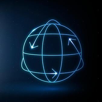 Icono de globo vector símbolo de conservación del medio ambiente