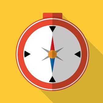 Icono gráfico brújula de viaje