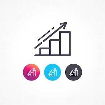 Icono gráfico de información empresarial
