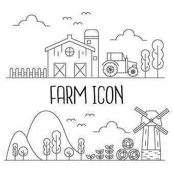 Icono de granja