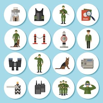 Icono de guardia de frontera plana
