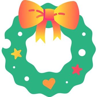 Icono de guirnalda de navidad vector plano de guirnalda de vacaciones