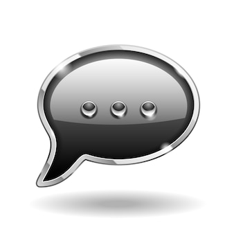 Icono de hablar de burbuja aislado