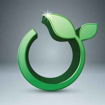 Icono de hierba 3d. infografía de salud.