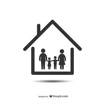 Icono de hogar y familia
