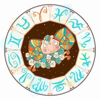 Icono de horóscopo para niños