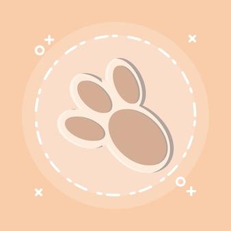 Icono de impresión de pata de conejito
