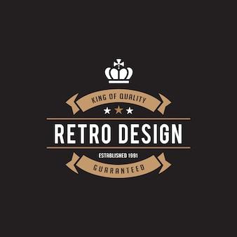 Icono de insignia de insignia de etiqueta vintage.