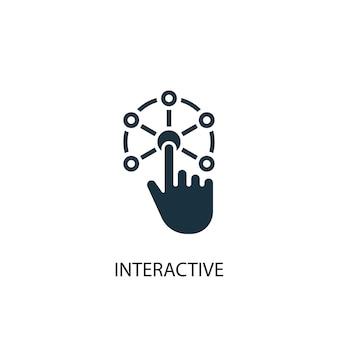 Icono interactivo. ilustración de elemento simple. diseño de símbolo de concepto interactivo. se puede utilizar para web y móvil.