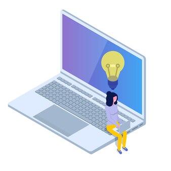 Icono isométrico de personaje de usuario. ilustración de vector de estilo plano