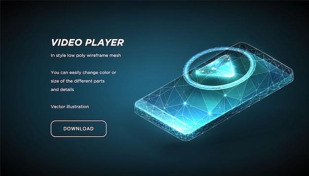 Icono de jugador y teléfono inteligente