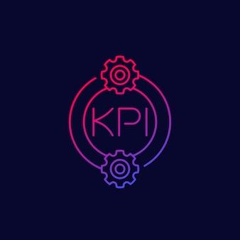 Icono de kpi, diseño vectorial lineal
