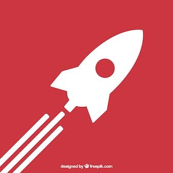 Icono lanzamiento de un cohete