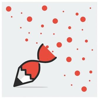 Icono de un lápiz rojo