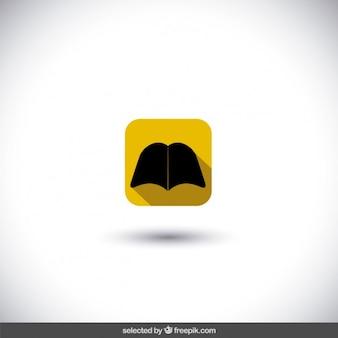 Icono de libro aislado