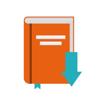 Icono de libro diseño de audiolibros. gráfico vectorial