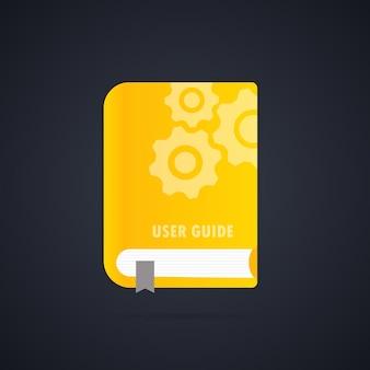 Icono de libro de guía del usuario