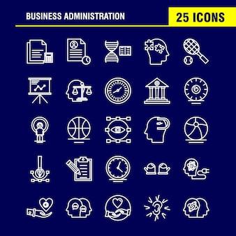 Icono de línea de administración de empresas