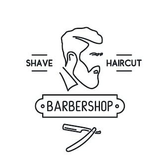 Icono de línea de barbería