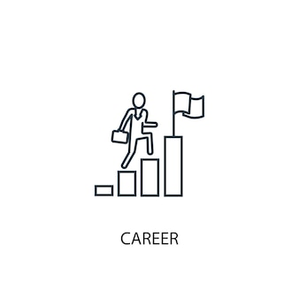 Icono de línea de concepto de carrera. ilustración de elemento simple. diseño de símbolo de esquema de concepto de carrera. se puede utilizar para ui / ux web y móvil