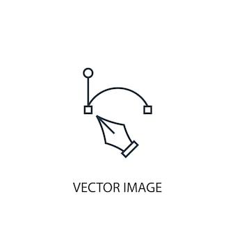 Icono de línea de concepto de imagen vectorial. ilustración de elemento simple. diseño de símbolo de esquema de concepto de imagen vectorial. se puede utilizar para ui / ux web y móvil