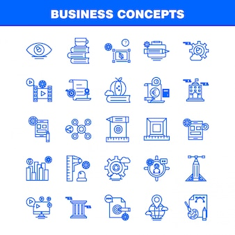 Icono de línea de conceptos de negocio