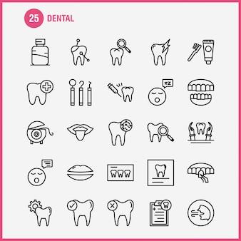 Icono de línea dental