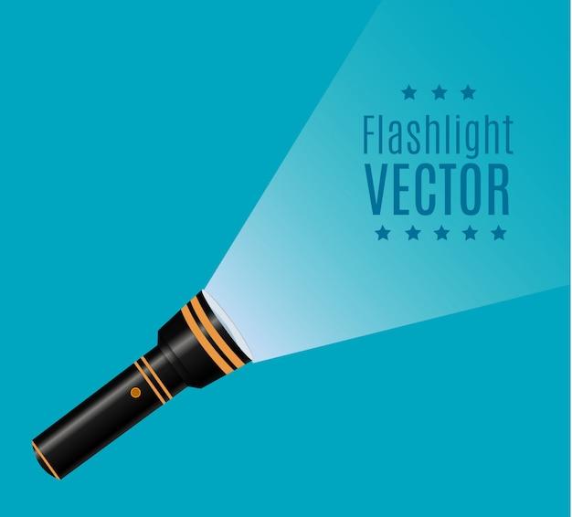Icono de linterna ilustración plana