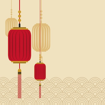 Icono de linternas chinas