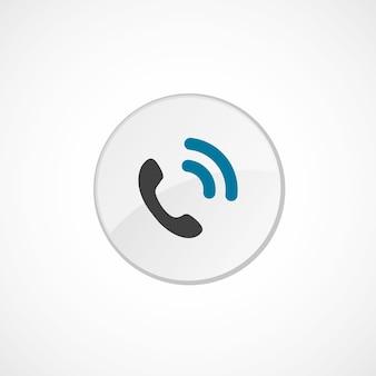 Icono de llamada 2 insignia circular de color, gris y azul