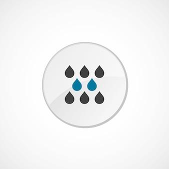 Icono de lluvia 2 color, gris y azul, insignia circular