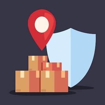 Icono de logística de entrega rápida
