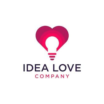 Icono de logo de amor de idea